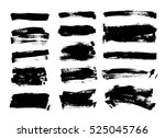 set of black paint  ink brush... | Shutterstock .eps vector #525045766
