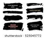 set of black paint  ink brush... | Shutterstock .eps vector #525045772
