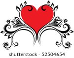 vector valentine with heart | Shutterstock .eps vector #52504654