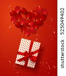 color vector gift box with... | Shutterstock .eps vector #525049402