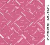 cute pattern of scissors for... | Shutterstock .eps vector #525055348