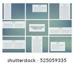 set of modern business... | Shutterstock .eps vector #525059335