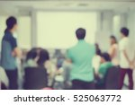 blur group of student studying... | Shutterstock . vector #525063772