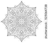 vector mandala. flower ornament.... | Shutterstock .eps vector #525064738