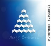 christmas background with a... | Shutterstock .eps vector #525068536