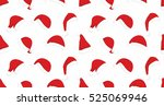 seamless pattern with santa... | Shutterstock .eps vector #525069946