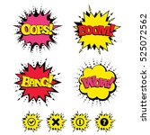 comic boom  wow  oops sound... | Shutterstock .eps vector #525072562