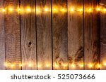 old wooden rustic christmas... | Shutterstock . vector #525073666