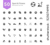 sport and fitness icon set. 50... | Shutterstock .eps vector #525074995