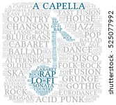 Acapella. Word Cloud  Musical...