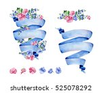colorful floral collection with ... | Shutterstock . vector #525078292