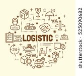 logistic minimal thin line... | Shutterstock .eps vector #525090682