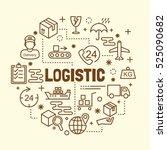 logistic minimal thin line... | Shutterstock .eps vector #525090682
