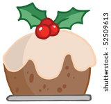 Holly Topped Christmas Pudding