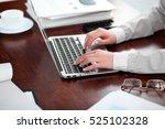 close up of business woman... | Shutterstock . vector #525102328