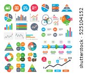 business charts. growth graph.... | Shutterstock .eps vector #525104152