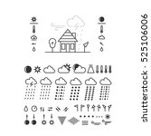 mega pack of weather icons with ...   Shutterstock .eps vector #525106006