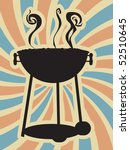 bbq silhouette swirl blue red...   Shutterstock .eps vector #52510645