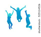 a child silhouette jumps. vector | Shutterstock .eps vector #525114526