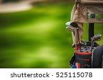 golf clubs drivers over green...   Shutterstock . vector #525115078