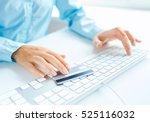 hands using computer and credit ...   Shutterstock . vector #525116032