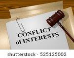 "3d illustration of ""conflict of ... | Shutterstock . vector #525125002"