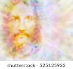 gentle spirit   ethereal golden ... | Shutterstock . vector #525125932