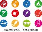 fishing icon set | Shutterstock .eps vector #525128638