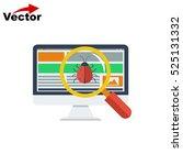 virus scan computer icon ...   Shutterstock .eps vector #525131332