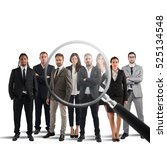 recruitment and select... | Shutterstock . vector #525134548