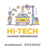 vector illustration of car high ... | Shutterstock .eps vector #525135652