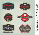 christmas sale label | Shutterstock .eps vector #525136615