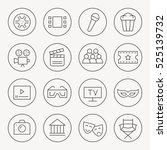 cinema thin line icon set | Shutterstock .eps vector #525139732