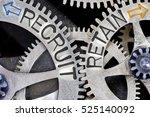 macro photo of tooth wheel... | Shutterstock . vector #525140092
