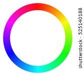 Isolated Gradient Rainbow Ring...