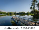 view of ang keaw reservoir with ... | Shutterstock . vector #525143302