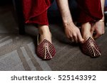 Groom In Red Velvet Trousers...