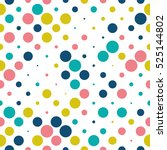 seamless polka dot pattern with ... | Shutterstock .eps vector #525144802