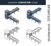 vector illustration. set icons... | Shutterstock .eps vector #525148168