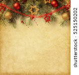 fir branch with christmas... | Shutterstock . vector #525150202