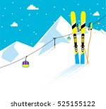 mountain skies in the snow and...   Shutterstock .eps vector #525155122