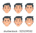 man face emotive icons. smiling ... | Shutterstock .eps vector #525159532