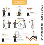 businessman infographic cartoon ... | Shutterstock .eps vector #525161428