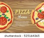 pizza menu web banner. pizza...   Shutterstock .eps vector #525164365
