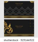 wedding invitation cards set... | Shutterstock .eps vector #525166522