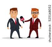 interview on tv vector... | Shutterstock .eps vector #525168052