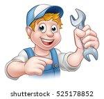 a mechanic or plumber handyman... | Shutterstock .eps vector #525178852