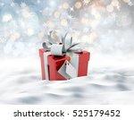 3d render of a snowy landscape... | Shutterstock . vector #525179452