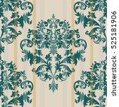 vintage baroque damask pattern... | Shutterstock .eps vector #525181906