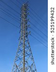 high voltage transmission towers   Shutterstock . vector #525199432